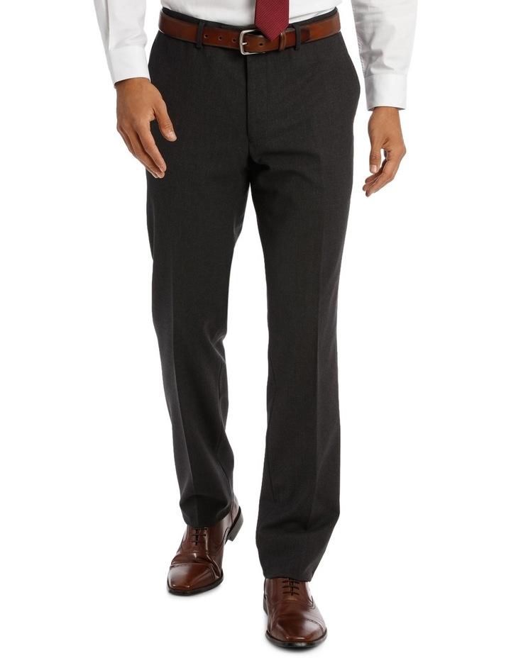 Edgeware Charcoal Plain Suit Trouser image 1