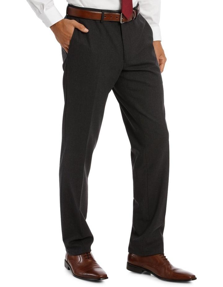 Edgeware Charcoal Plain Suit Trouser image 2