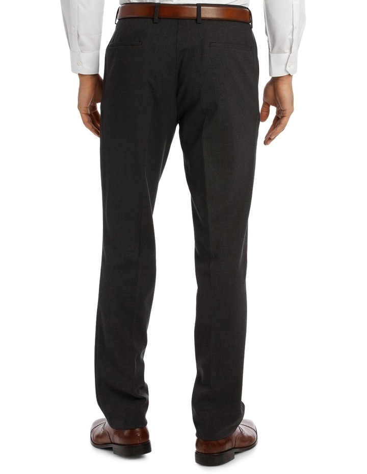 Edgeware Charcoal Plain Suit Trouser image 3