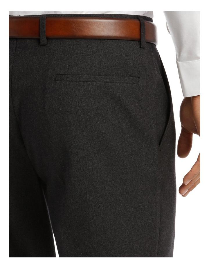 Edgeware Charcoal Plain Suit Trouser image 4