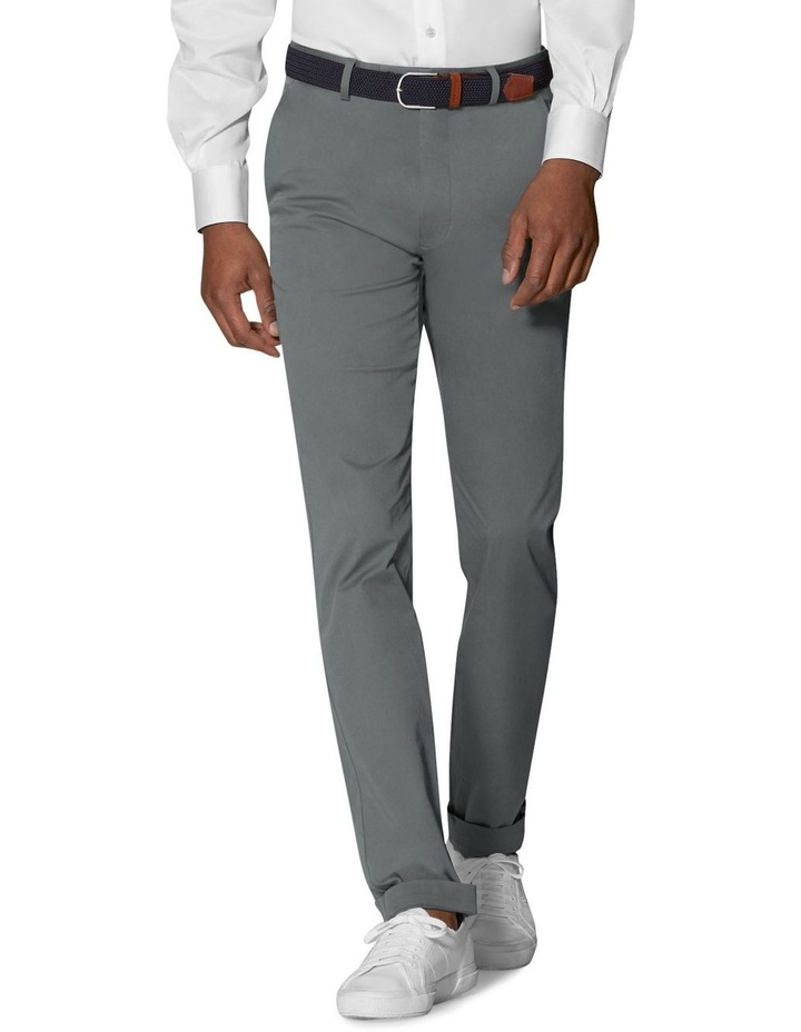 Radcliffe Grey Italian Cotton Stretch Chino image 1