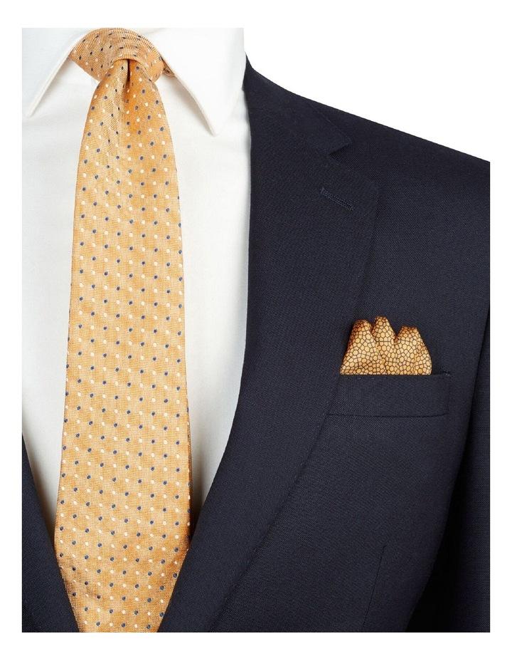 Orange Geometric Print Silk Pocket Square image 2