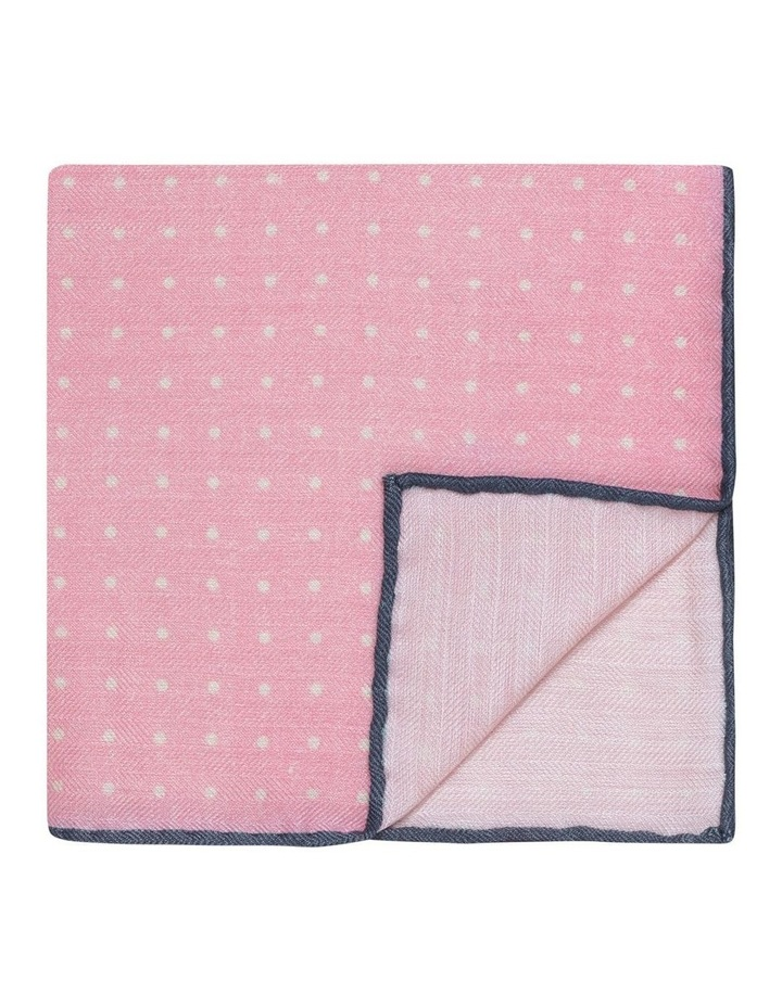 Pink Dotted Silk Pocket Square image 1
