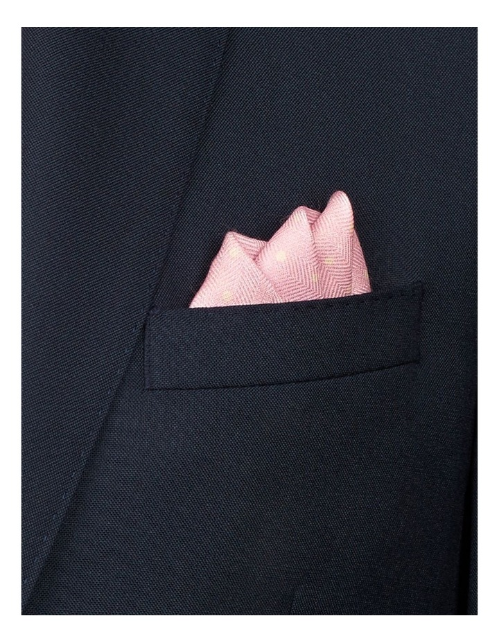 Pink Dotted Silk Pocket Square image 2