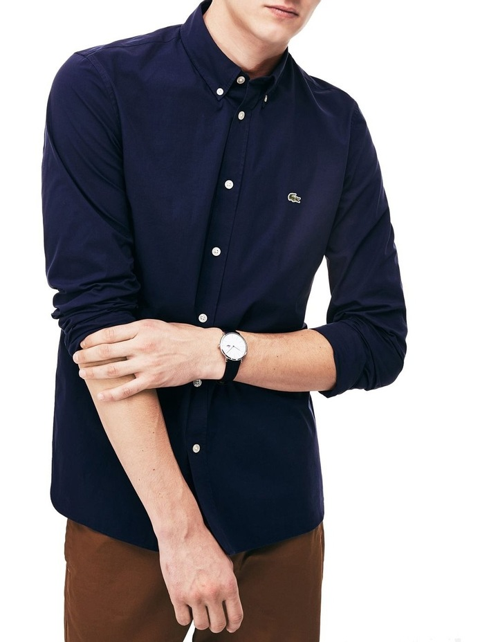 Slim Fit Stretch Popelin Shirt image 1