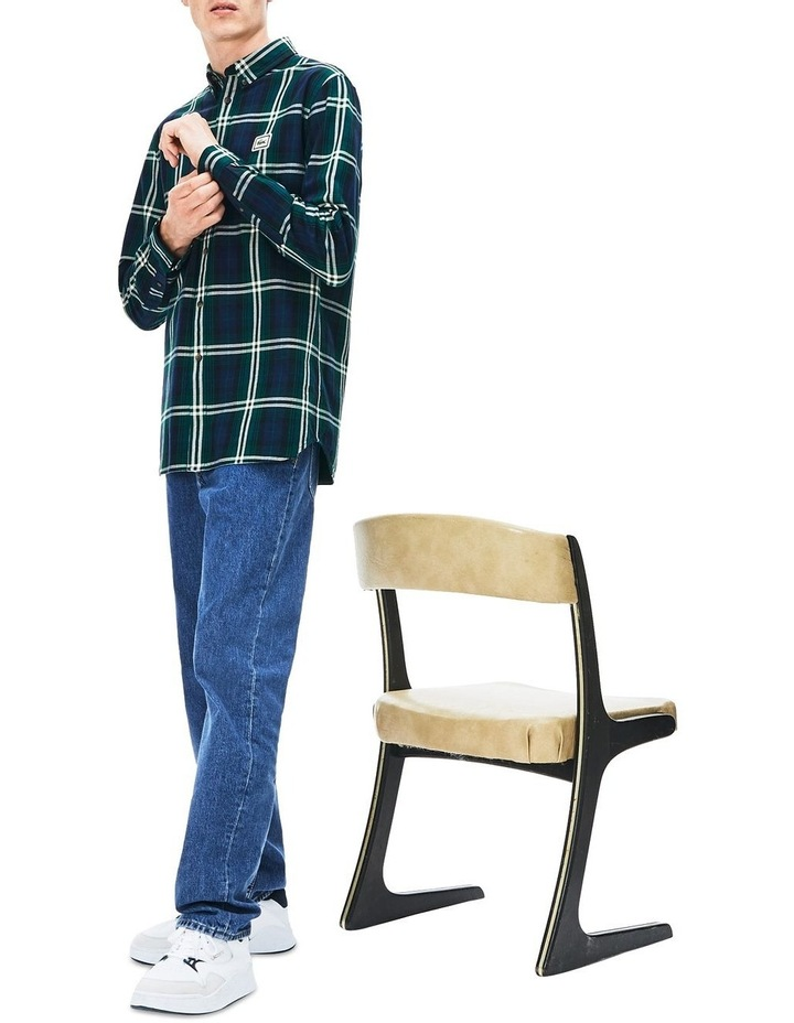 90S Sportswear Check Flannel Long Sleeve Shirt image 1