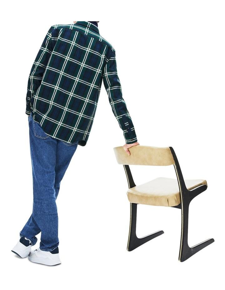 90S Sportswear Check Flannel Long Sleeve Shirt image 2