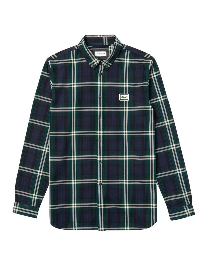 90S Sportswear Check Flannel Long Sleeve Shirt image 4