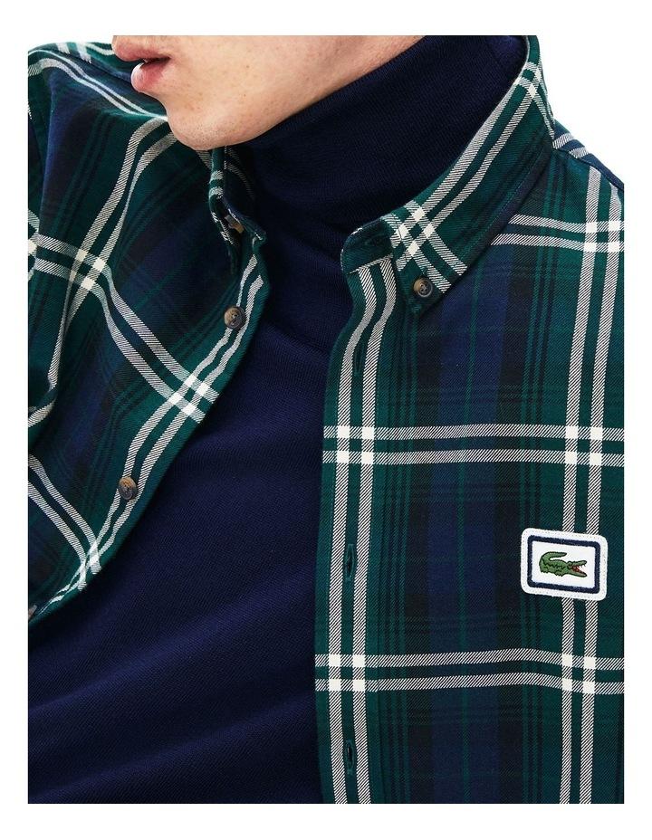 90S Sportswear Check Flannel Long Sleeve Shirt image 5
