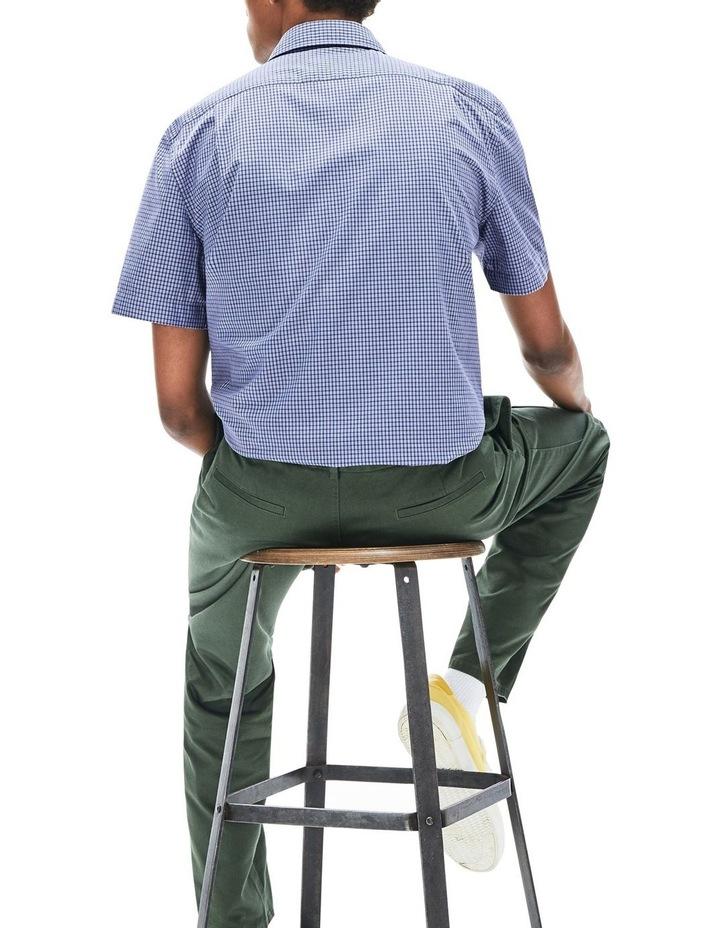 Regular Fit Gingham Poplin Short Sleeve Shirt image 2