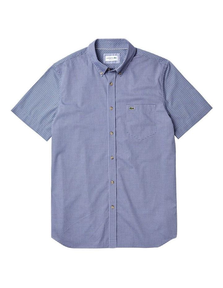 Regular Fit Gingham Poplin Short Sleeve Shirt image 3