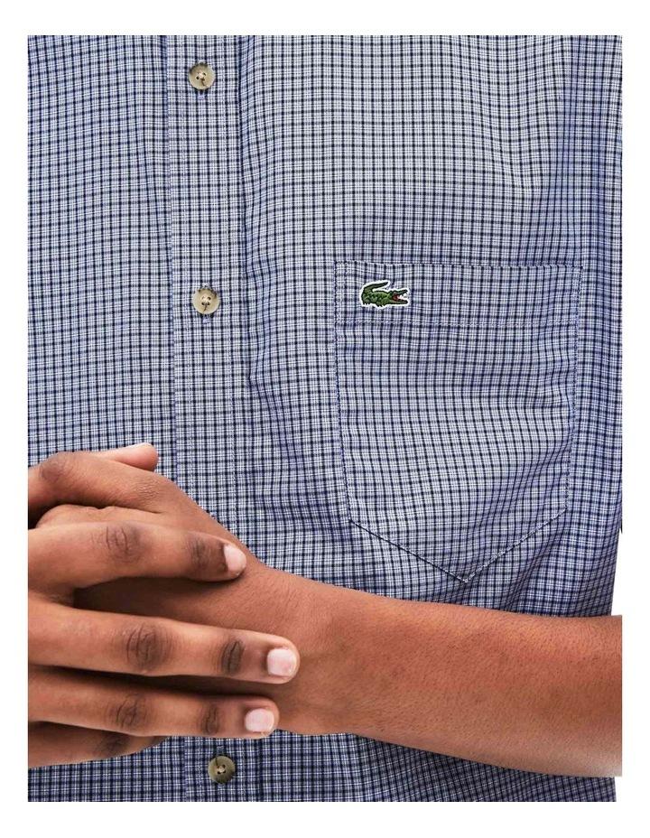 Regular Fit Gingham Poplin Short Sleeve Shirt image 5