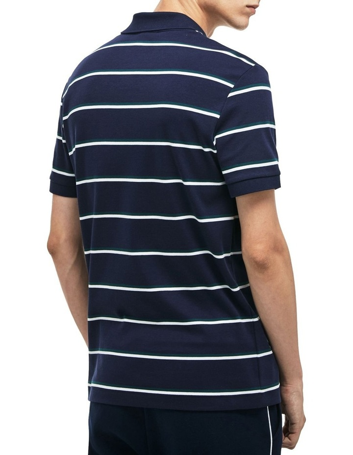 Stripe Interlock Polo With Badge image 2