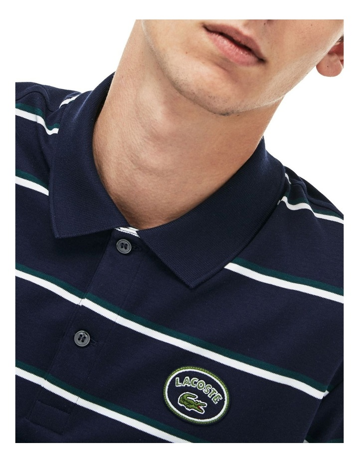 Stripe Interlock Polo With Badge image 3