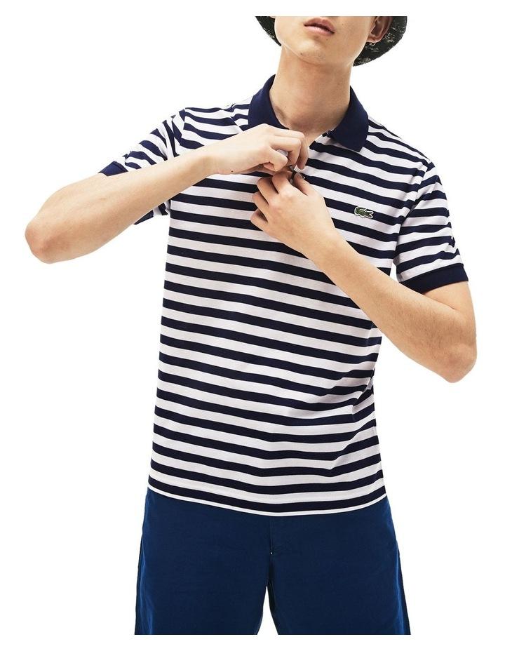 Slim Mercerised Stripe Polo image 1
