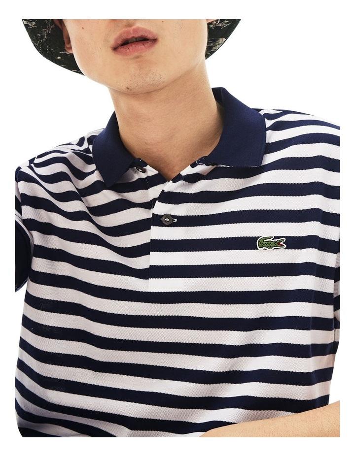 Slim Mercerised Stripe Polo image 3