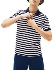 Slim Mercerised Stripe Polo