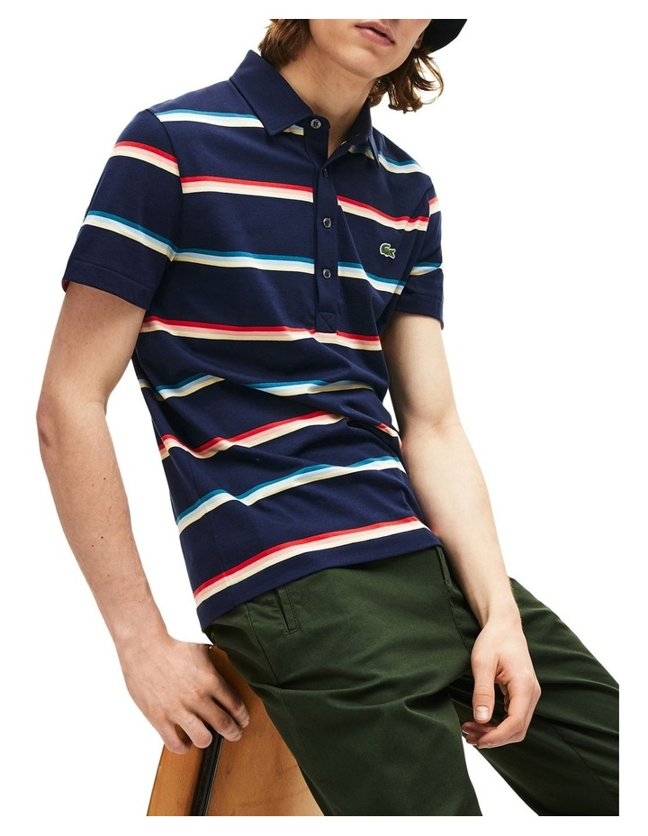 Rainbow Stripe Polo image 1