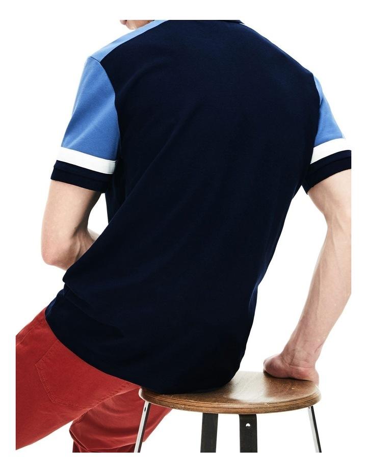 Colour Block Slim Fit Pima Polo image 3
