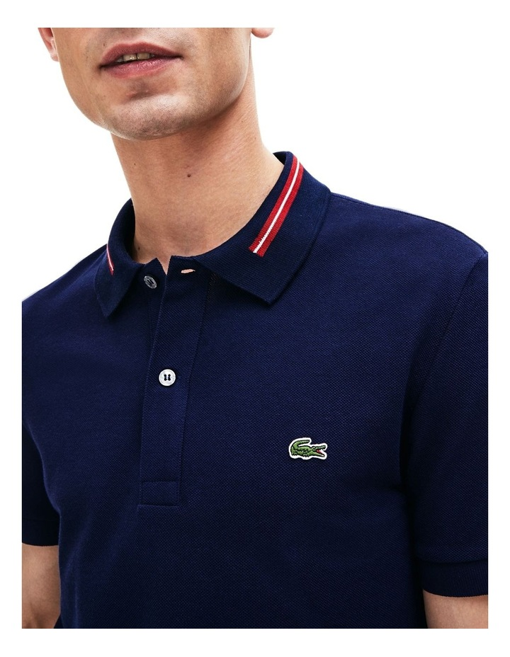 Classic Slim Fit Tipped Collar Polo image 5