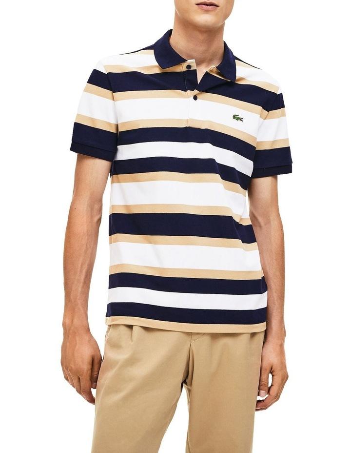 Golden Week Reg Fit Stripe Polo image 1