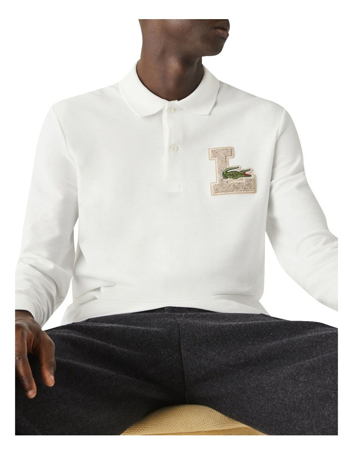 Graphic Long Sleeve Polo image 3