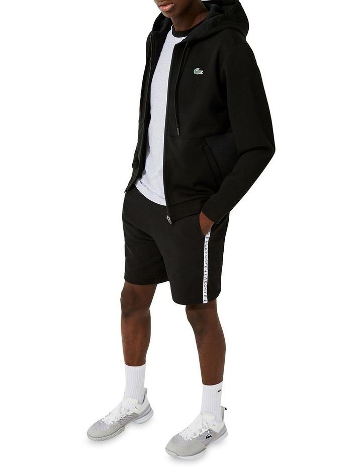 Performance Zip Front Sweat Top in Black image 4