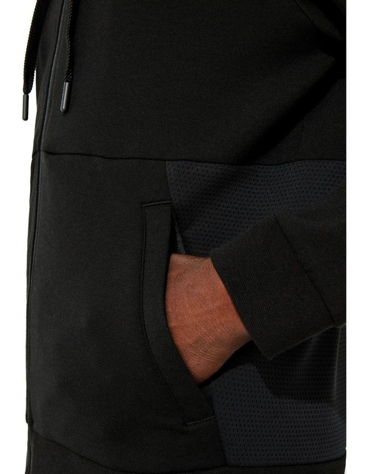 Performance Zip Front Sweat Top in Black image 6