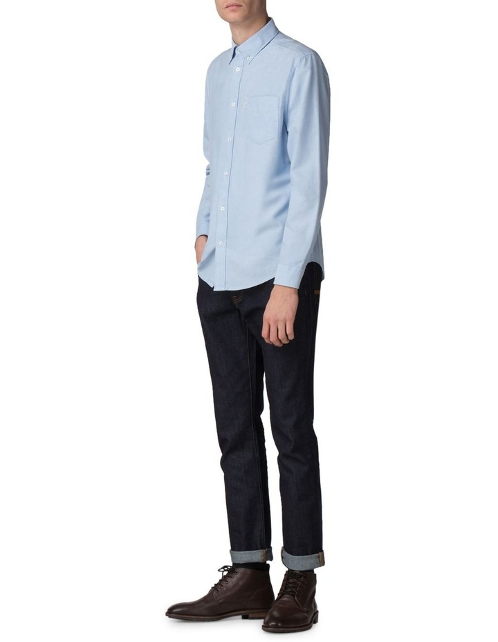Long Sleeve Classic Oxford Blue Shadow image 3