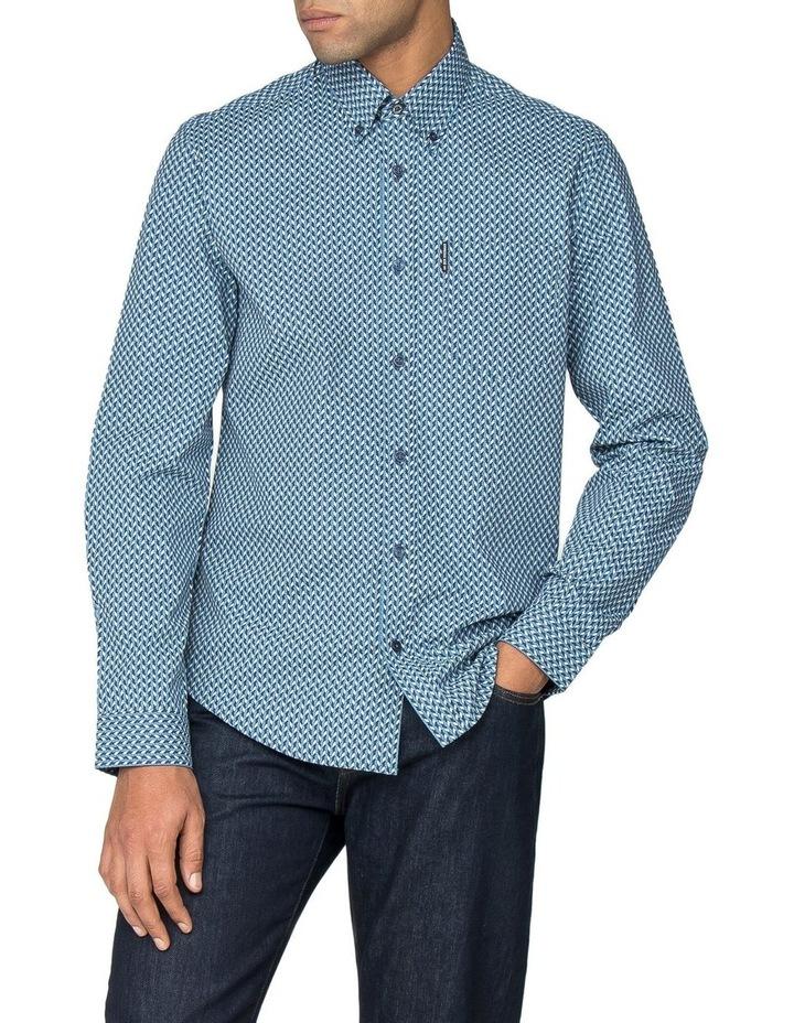 Duo Tone Geo Long Sleeve Shirt image 1