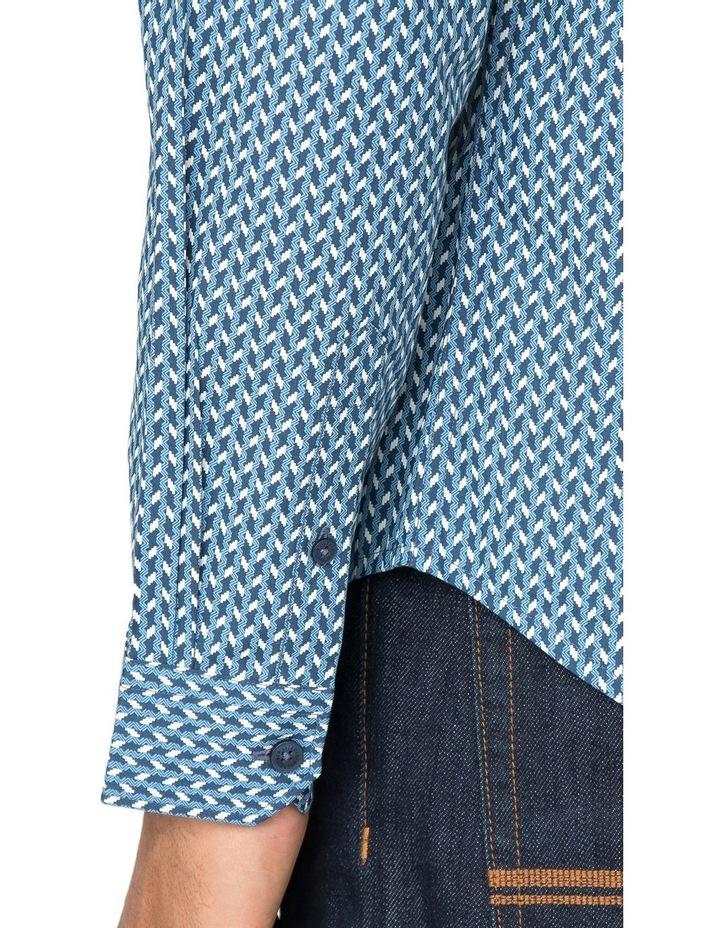 Duo Tone Geo Long Sleeve Shirt image 4