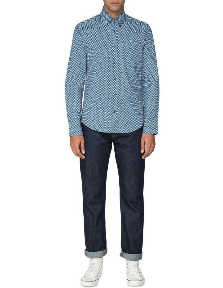 Duo Tone Geo Long Sleeve Shirt image 5
