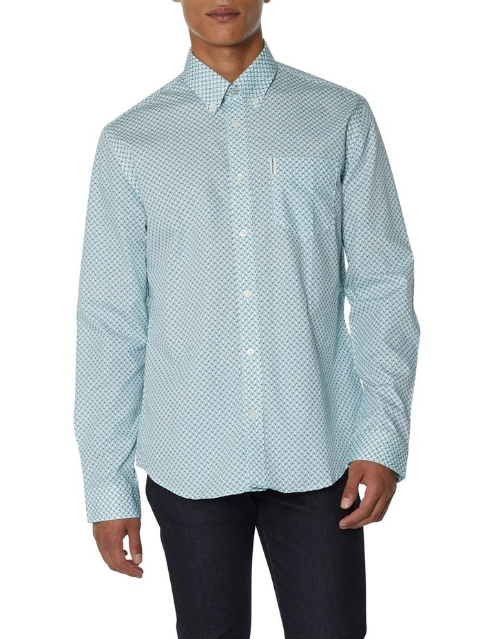 Duo Tone Geo Long Sleeve Shirt image 1