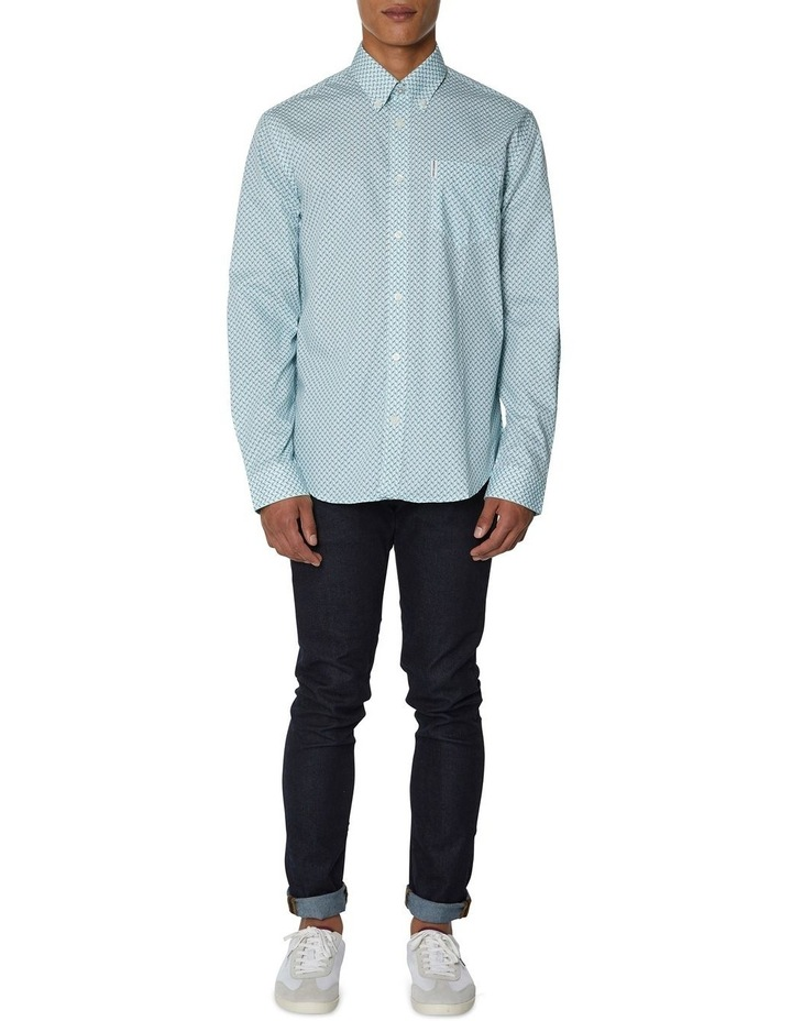 Duo Tone Geo Long Sleeve Shirt image 4
