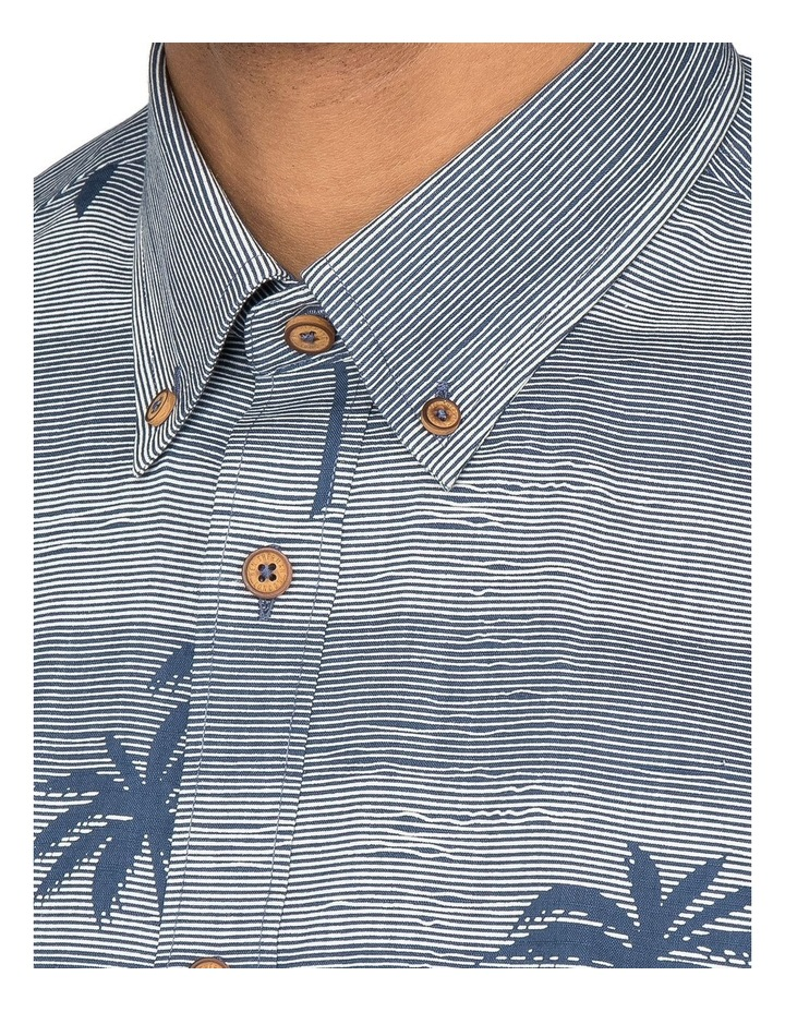 Striped Palm Print Short Sleeve Shirt image 2