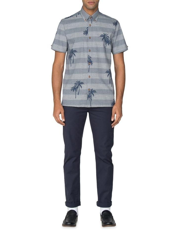Striped Palm Print Short Sleeve Shirt image 6