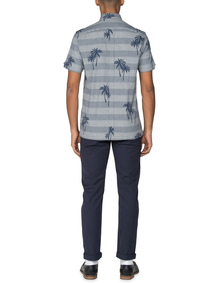 Striped Palm Print Short Sleeve Shirt image 7