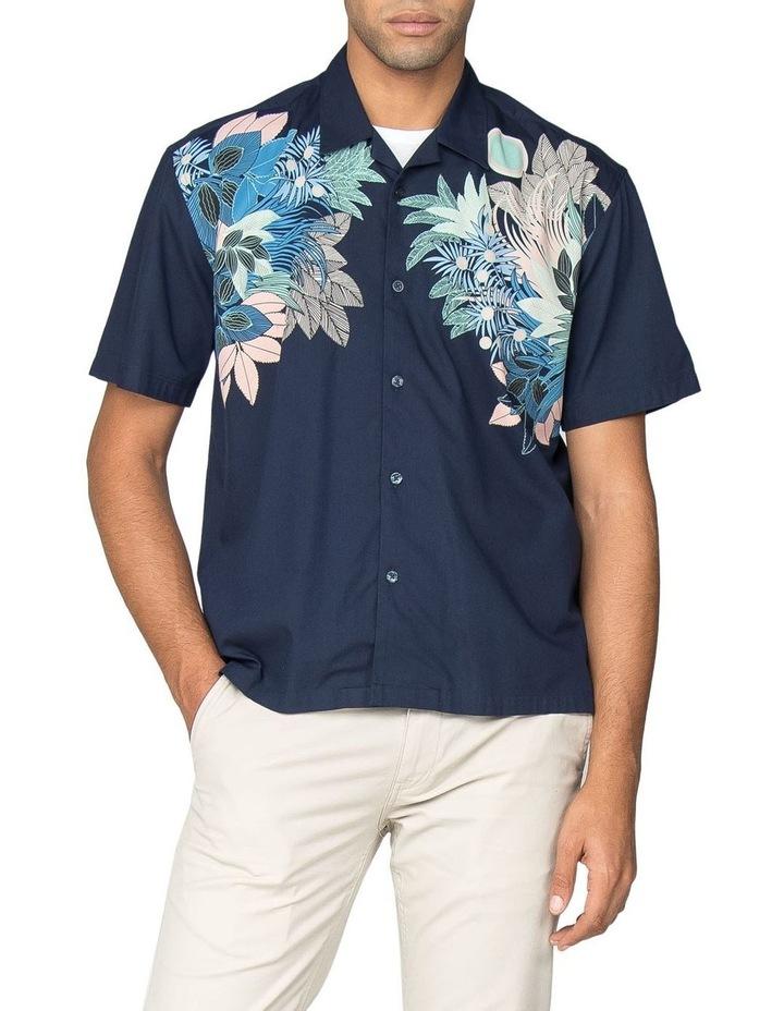 Viscose Foliage Print Short Sleeve Shirt image 1