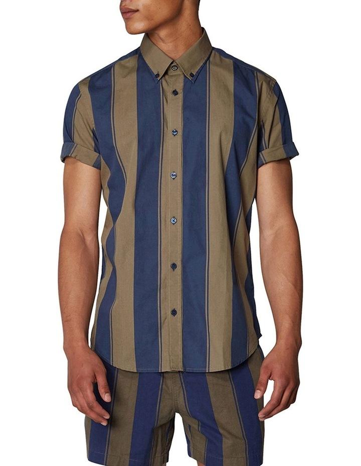 Graphic Stripe Short Sleeve Shirt image 1