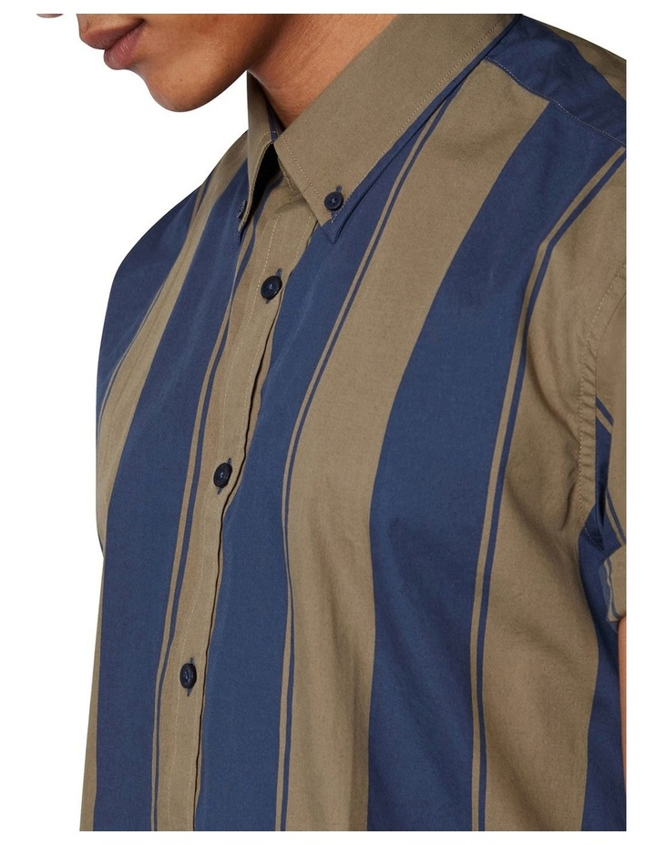 Graphic Stripe Short Sleeve Shirt image 4