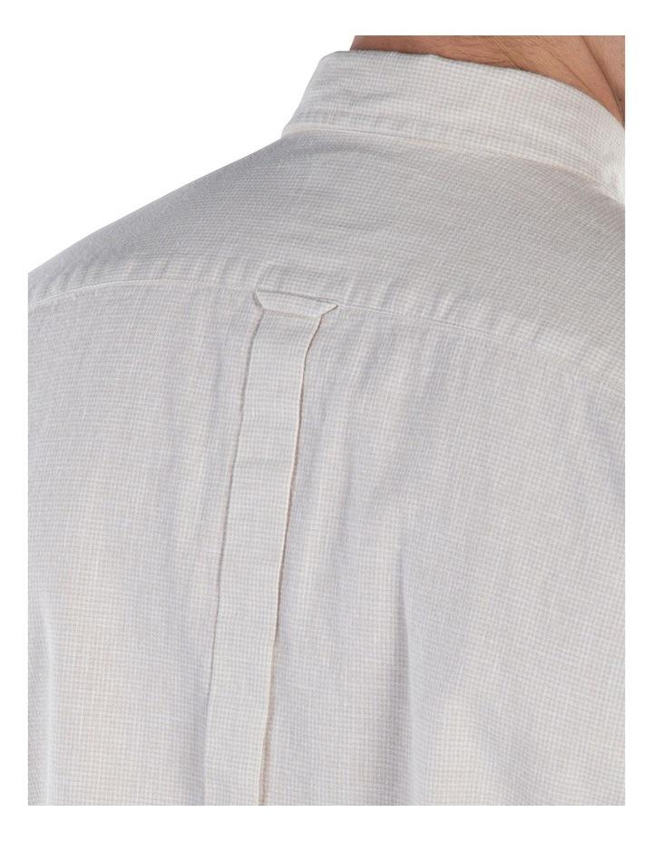 Linen Long Sleeve Shirt- Off White image 4