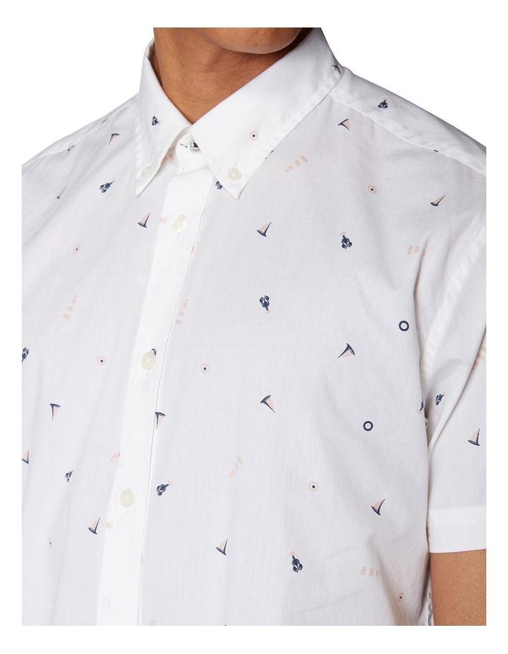 Nautical Print Short Sleeve Shirt image 4