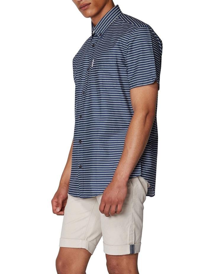 Distress Stripe Short Sleeve Shirt image 2