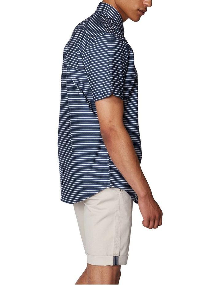 Distress Stripe Short Sleeve Shirt image 3