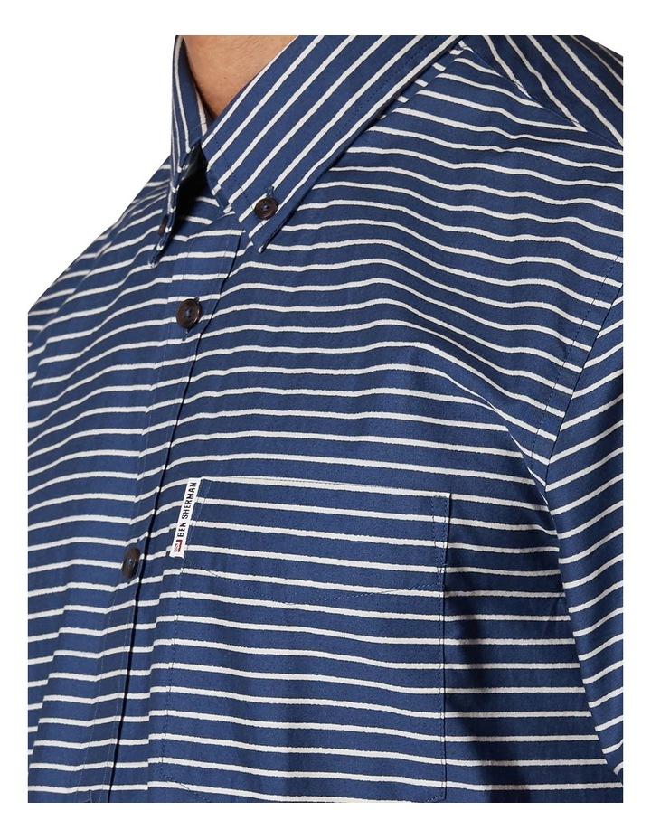 Distress Stripe Short Sleeve Shirt image 4