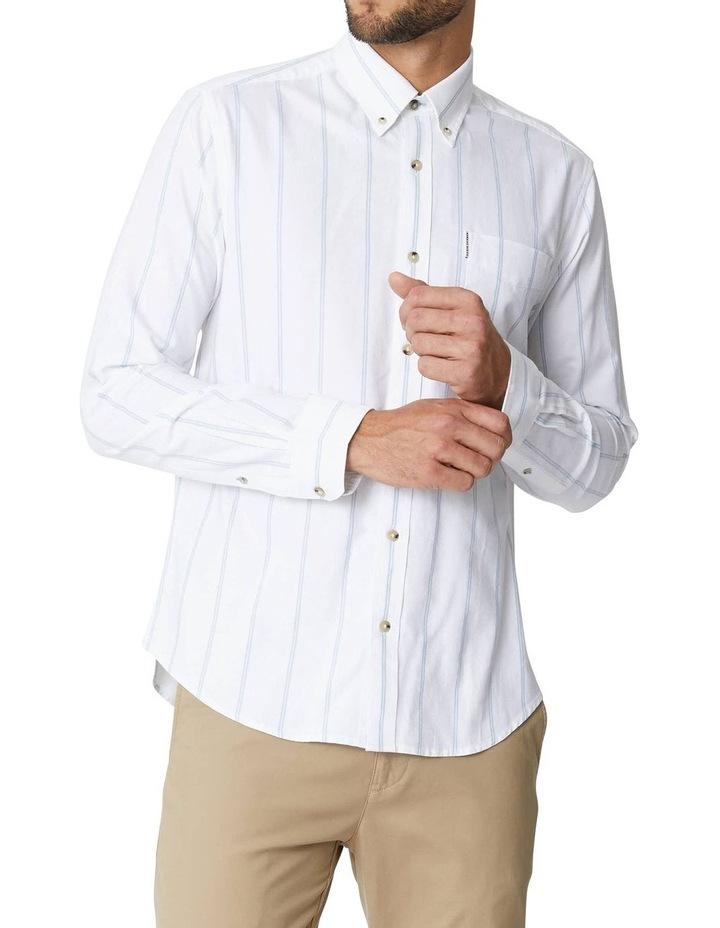 Twin Stripe Oxford Long Sleeve Shirt image 1