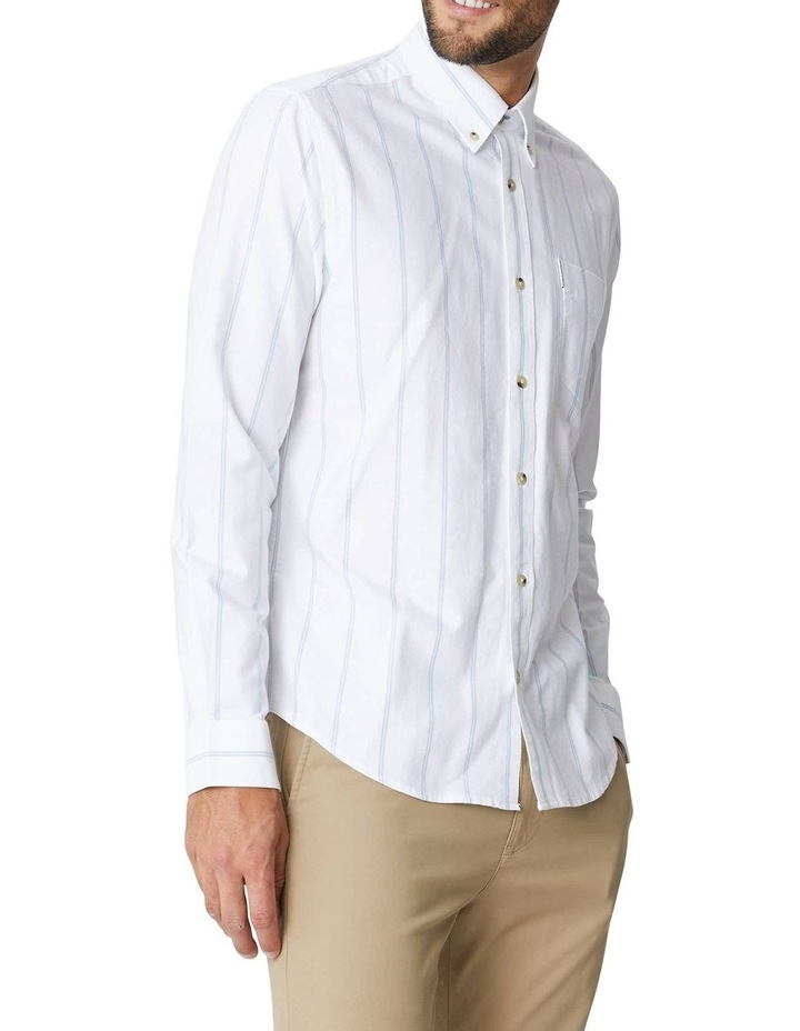 Twin Stripe Oxford Long Sleeve Shirt image 3