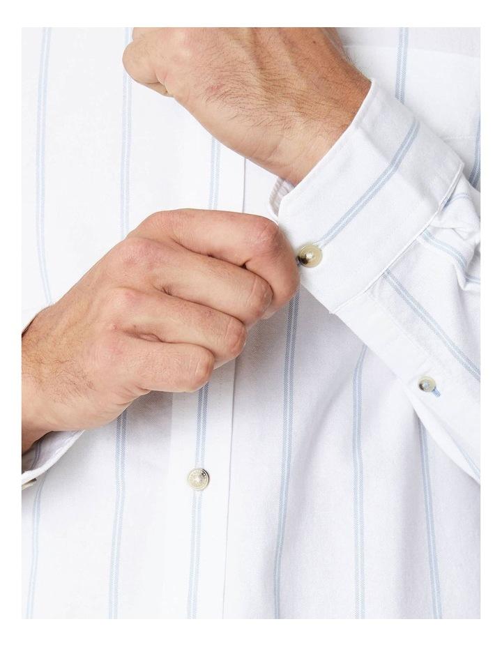 Twin Stripe Oxford Long Sleeve Shirt image 4
