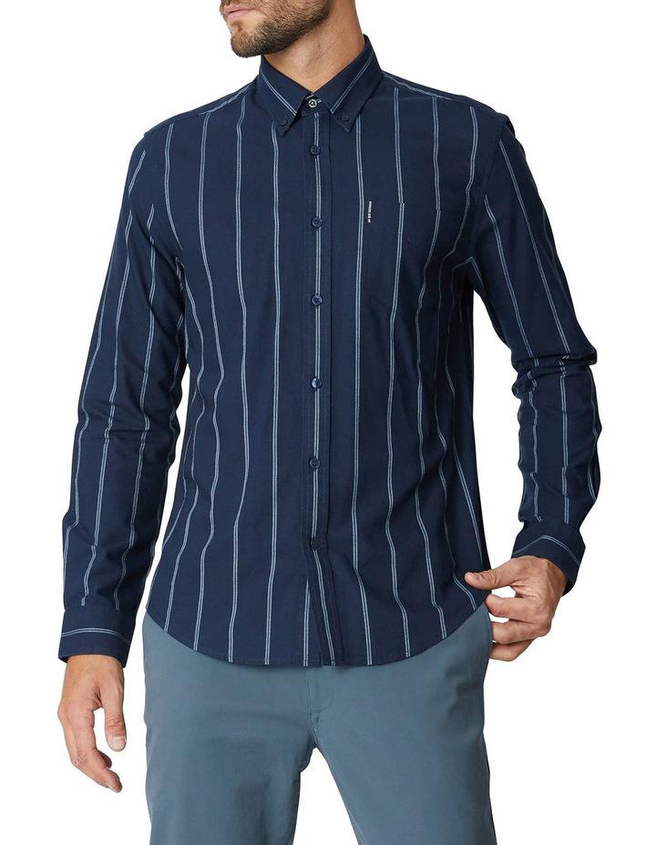 Twin Stripe Oxford Long Sleeve Shirt image 6