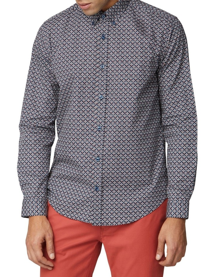 2 Colour Long Sleeve Print Shirt image 1